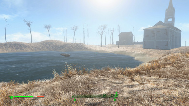 A lake behind the Town controlled by Raiders