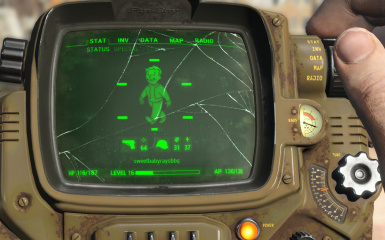 Cracked and Smudged Pip-Boy Screen