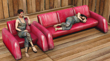 Modular Red Lounge Couch