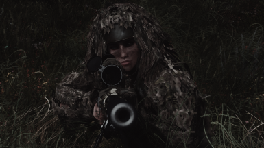 Thank you, works well with Ghillie Mod