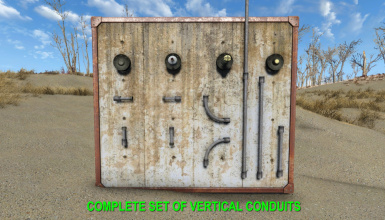 Complete Set of Vertical Conduits