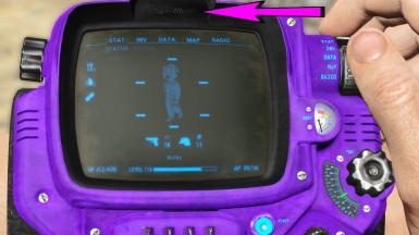 Wolfie's Personal Purple Pip-Boi - A Pip-Boy Texture Replacer
