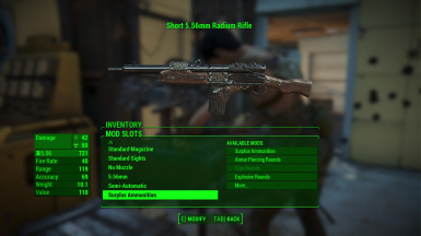 Base Radium Rifle Rework