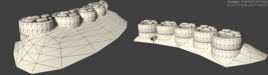 Clay-Wireframe Render