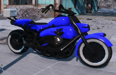 Custom Blue Paint with White wheels