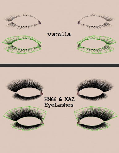 comparisson Lashes