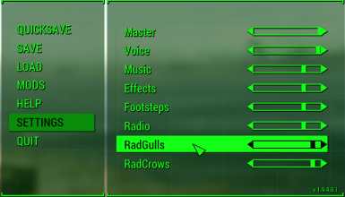Volume Sliders