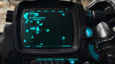 Carbon and cyan Pip-Boy