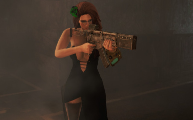 Assassin with her silenced SMG