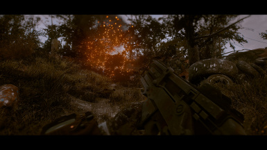 With the Right-Handed Handmade Rifle animation mod from Hitman