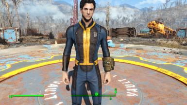 darker blue male proto vault suit at fallout 4 nexus mods and