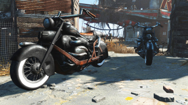 Lone Wanderer Motorcycle - Black Edition