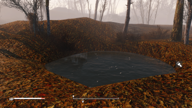 Small pond behind the Workshop
