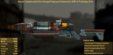 new vegas uniques 01 aer14 prototype at fallout 4 nexus mods and