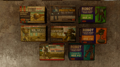 Robot Model Kit 4K Retextures and Collectible Boxes