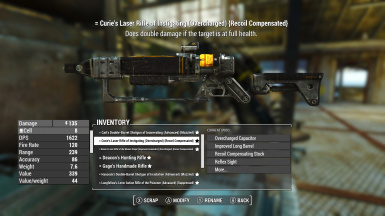 Curie weapon customized