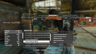 Gage weapon customized