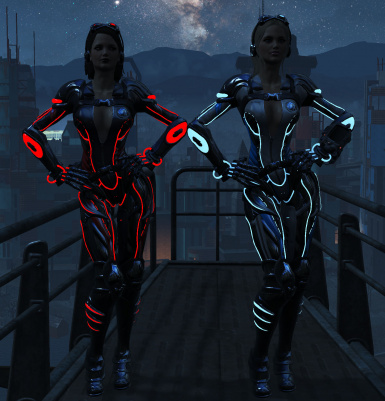 Both armors side by side