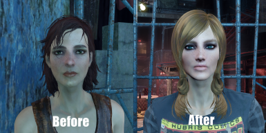 Cait before and after