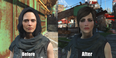 Piper before and after