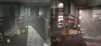 Boss Room before and after