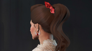 Zella Ponytail with Red Ribbon