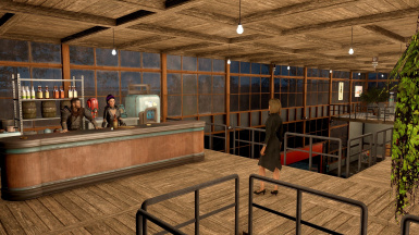 Bar and restaurant is open