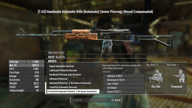 fallout 76 handmade rifle combat rifle and handmade rifle 556 ammo mods at fallout 4 4035