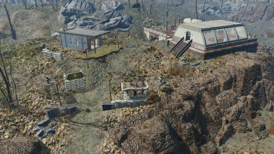Small settlement built around bunker entrance
