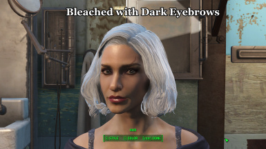 Bleached with Dark Eyebrows