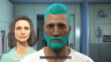 Man with Teal