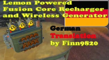 Lemon Powered Fusion Core Recharger and Wireless Generator - German Translation