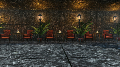 Darker Black Marble Concrete And Wood Walls And Floors