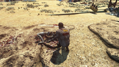 NCR Engineer inspecting a destroyed synth