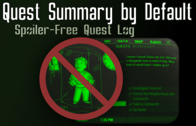 Quest Summary by Default - Spoiler-Free Quest Log