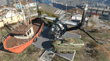 Wasteland Workshop Bus Replacers - Vertibird APC and Boat