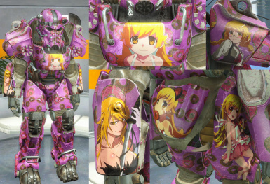 Anime Moe Kawaii Weeb Power Armor Paint