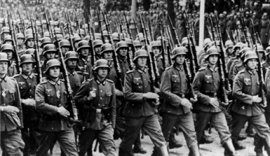 German Infantry on parade