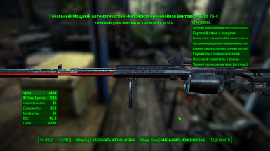 Example of translate in pip-boy menu the description of firearms 3