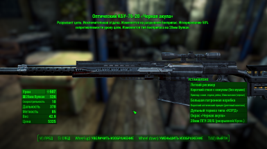 Example of translate in pip-boy menu the description of firearms 5