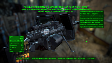 Example of translate in pip-boy menu the description of firearms 7