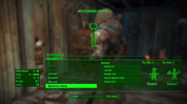 Buffout and Mysterious serum craftable