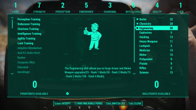 Be Exceptional - Skills and Perk Overhaul at Fallout 4 Nexus