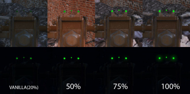 Pipe guns glow sight fix