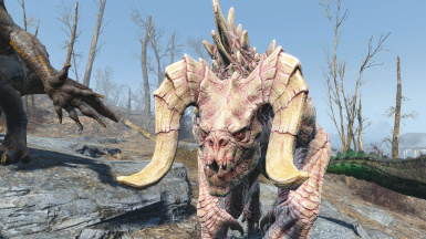 Detailed deathclaws v2 - Albino Deathclaw