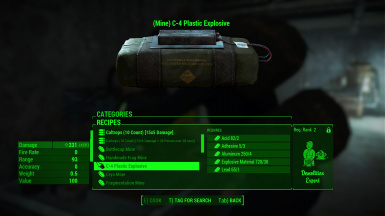 A mod-added explosive recipe, changed by the Horizonifier