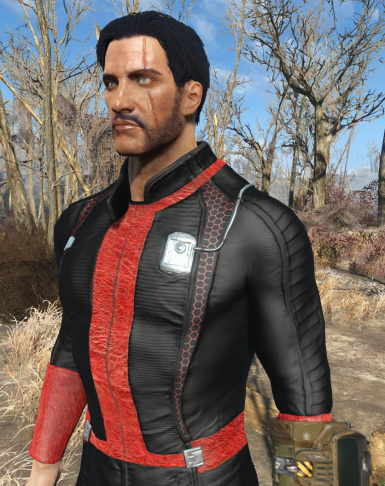 Black Red vaultsuit (Male)