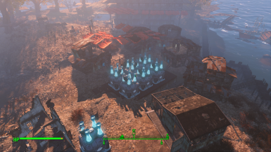 Generator block surrounded by low income housing slum and market V0.1
