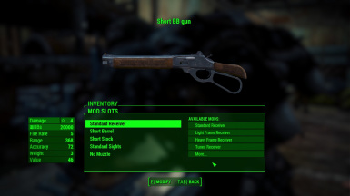 uses the lever-action rifle weapon mods