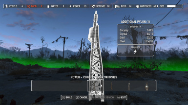 Power everywhere - Long range pylon
